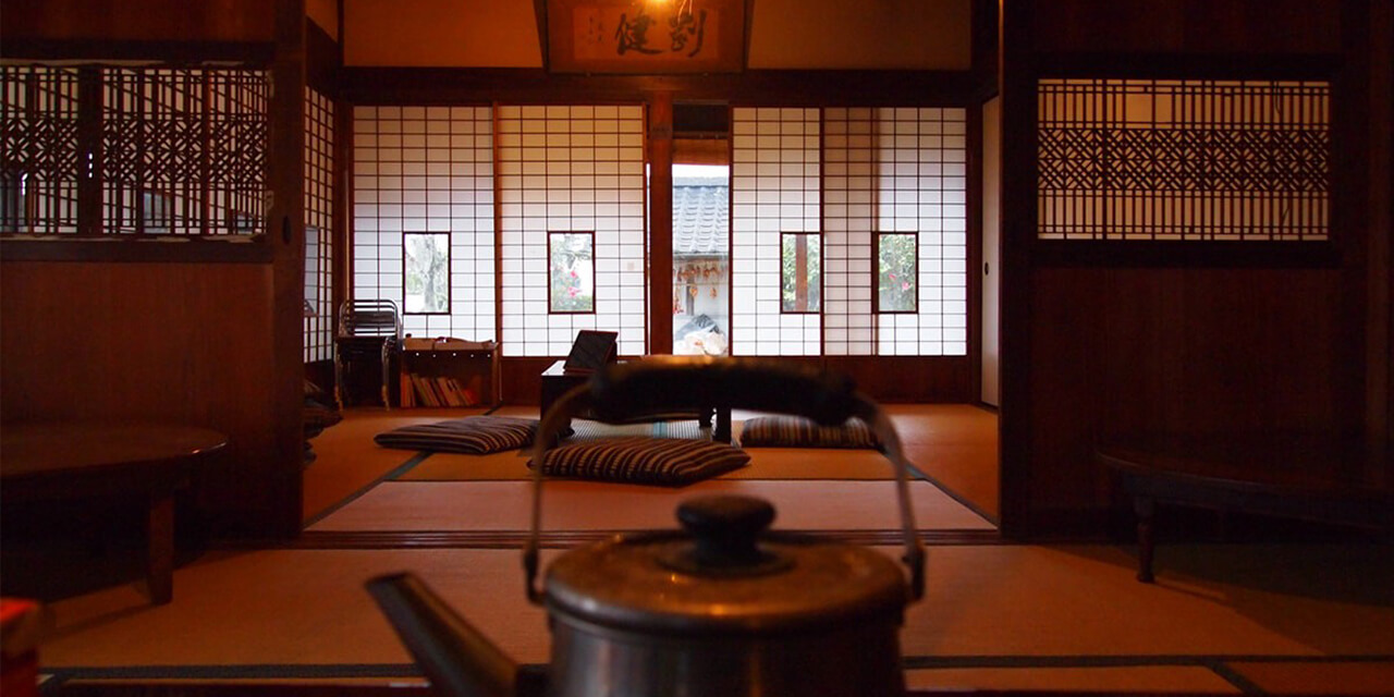 Japan Farming in the countryside and an old Japanese house